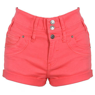 View Item Coral High Waist Denim Shorts